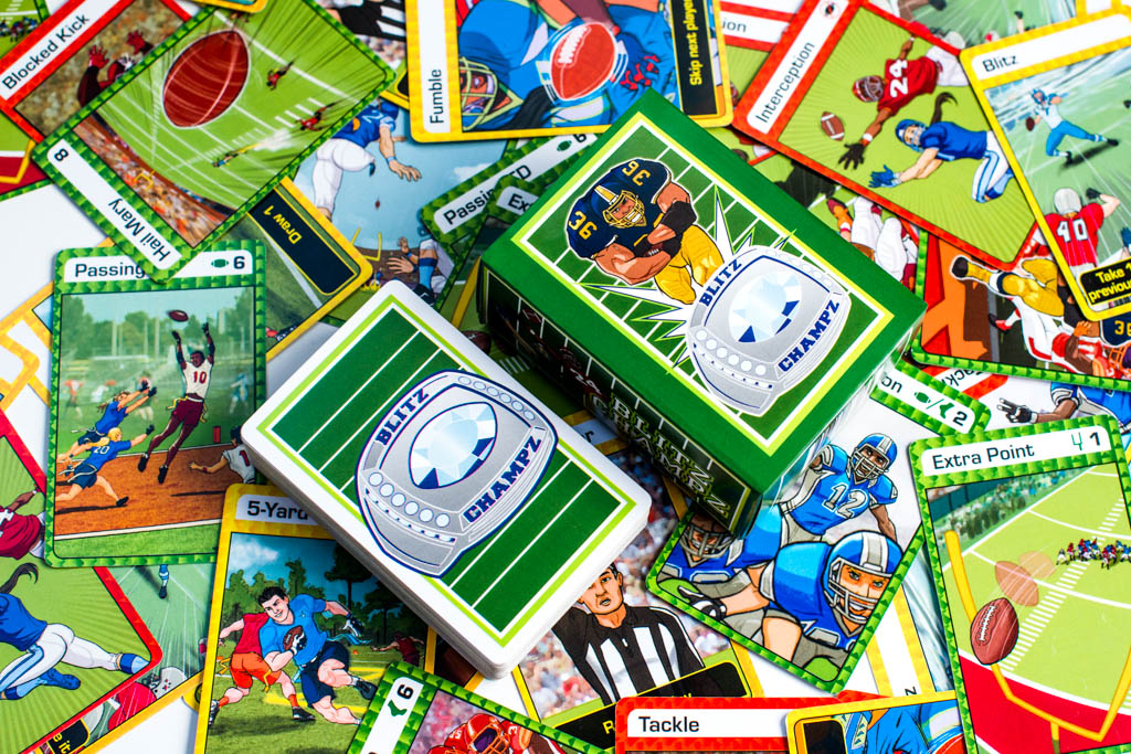 Blitz Champz football card game